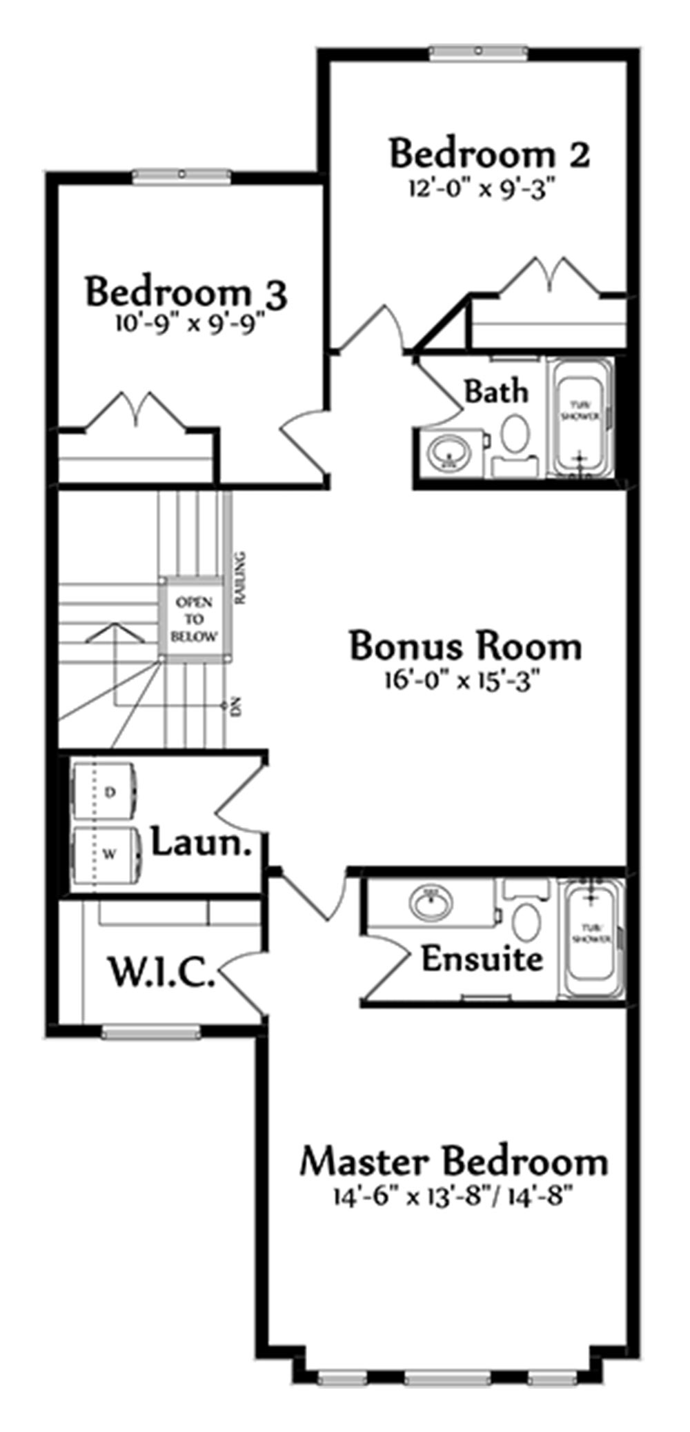 Alessio Second Floorplan 1049