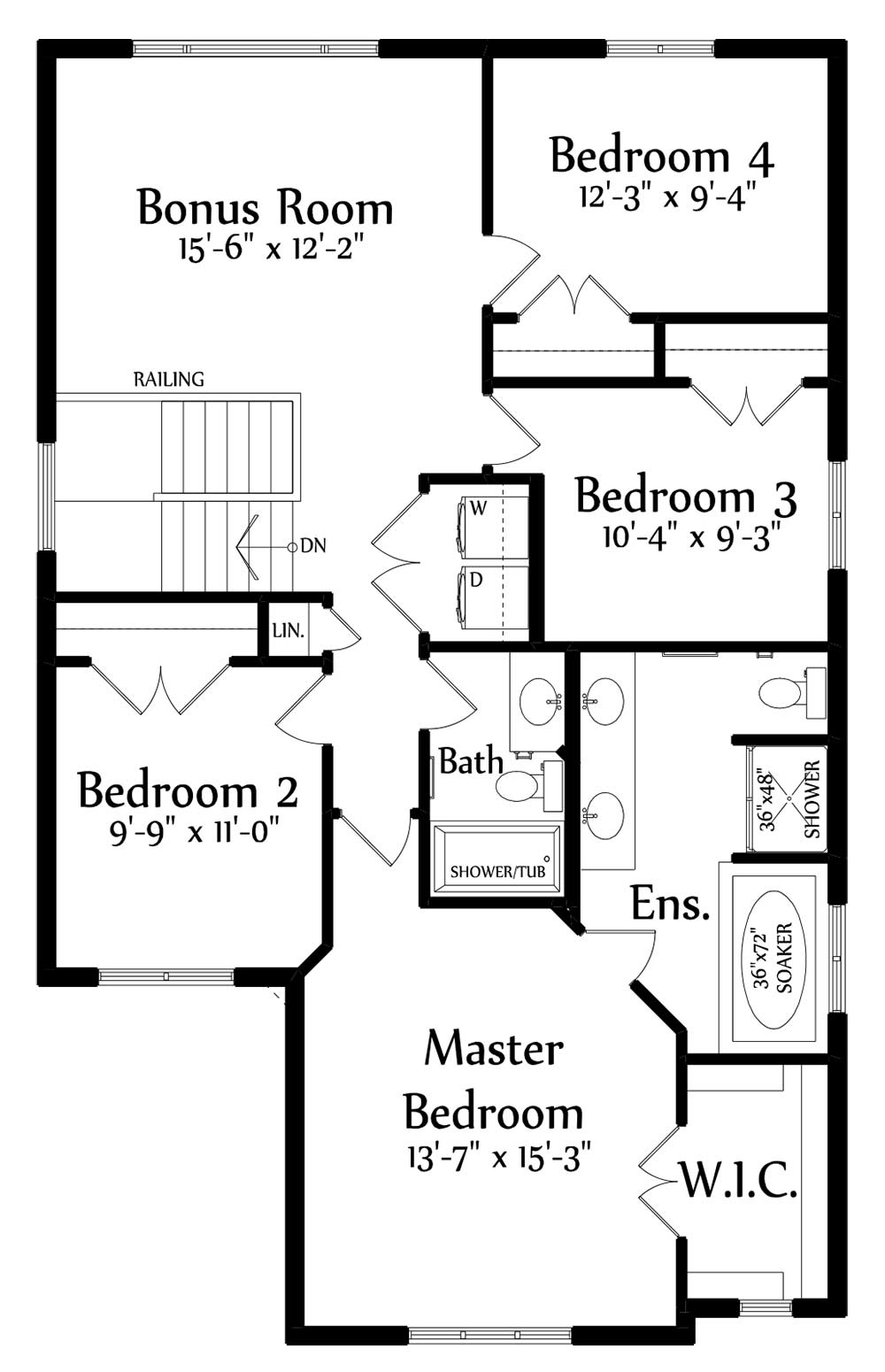 Alexandra II Second Floorplan 1177