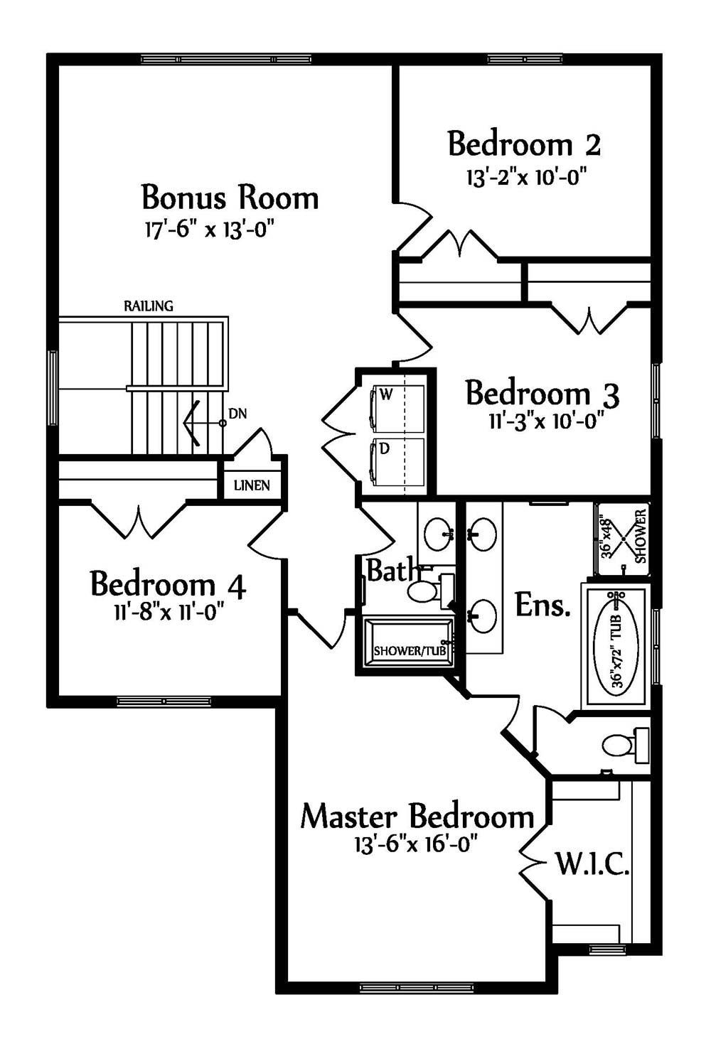 Alexandra Second floorplan 1314