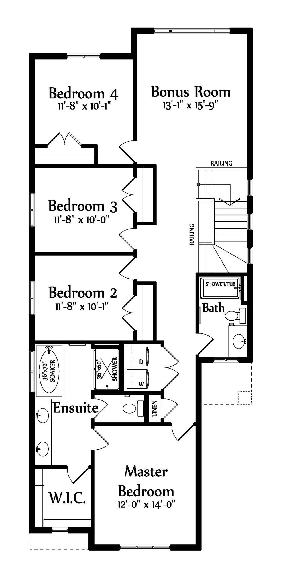 Anthony III Second floorplan 1336