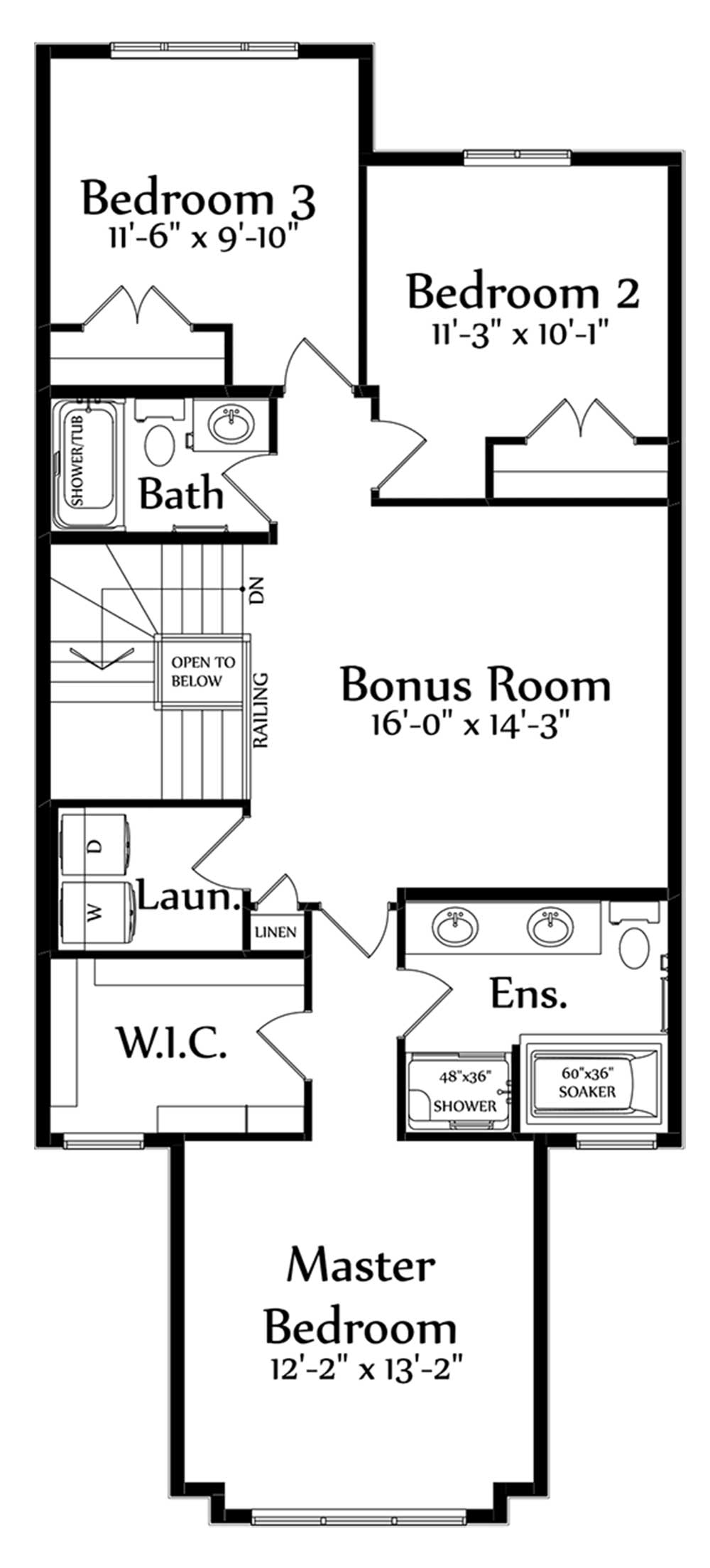 Christina Second Floorplan 1063