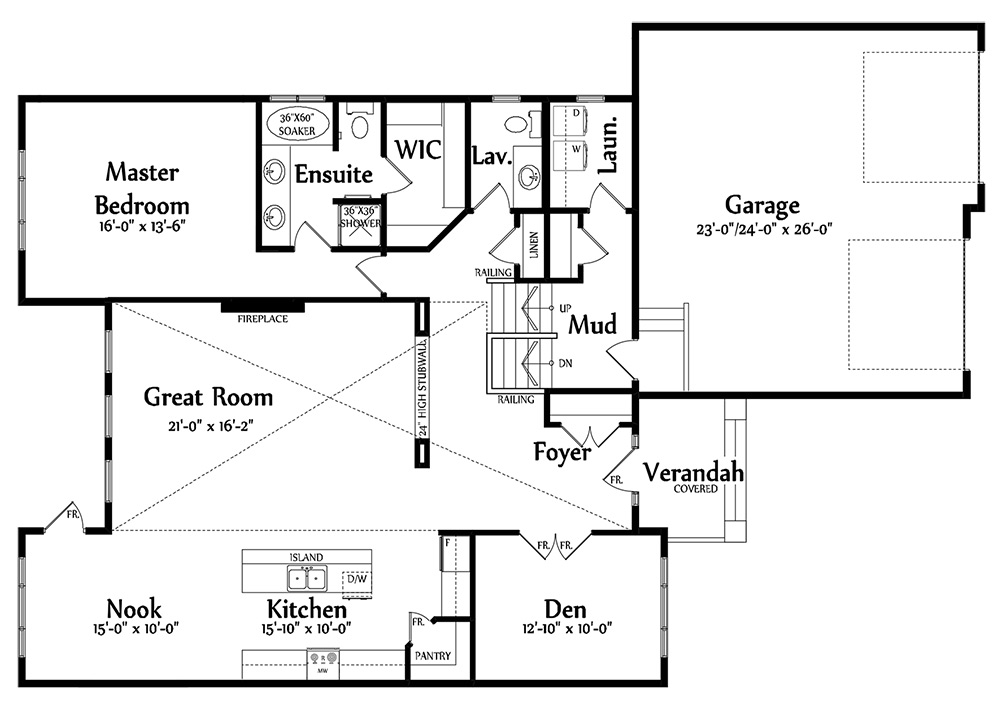 Emilia Main Floorplan 1703
