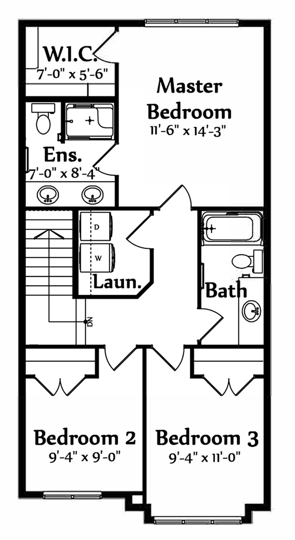 Emily Second Floorplan 746