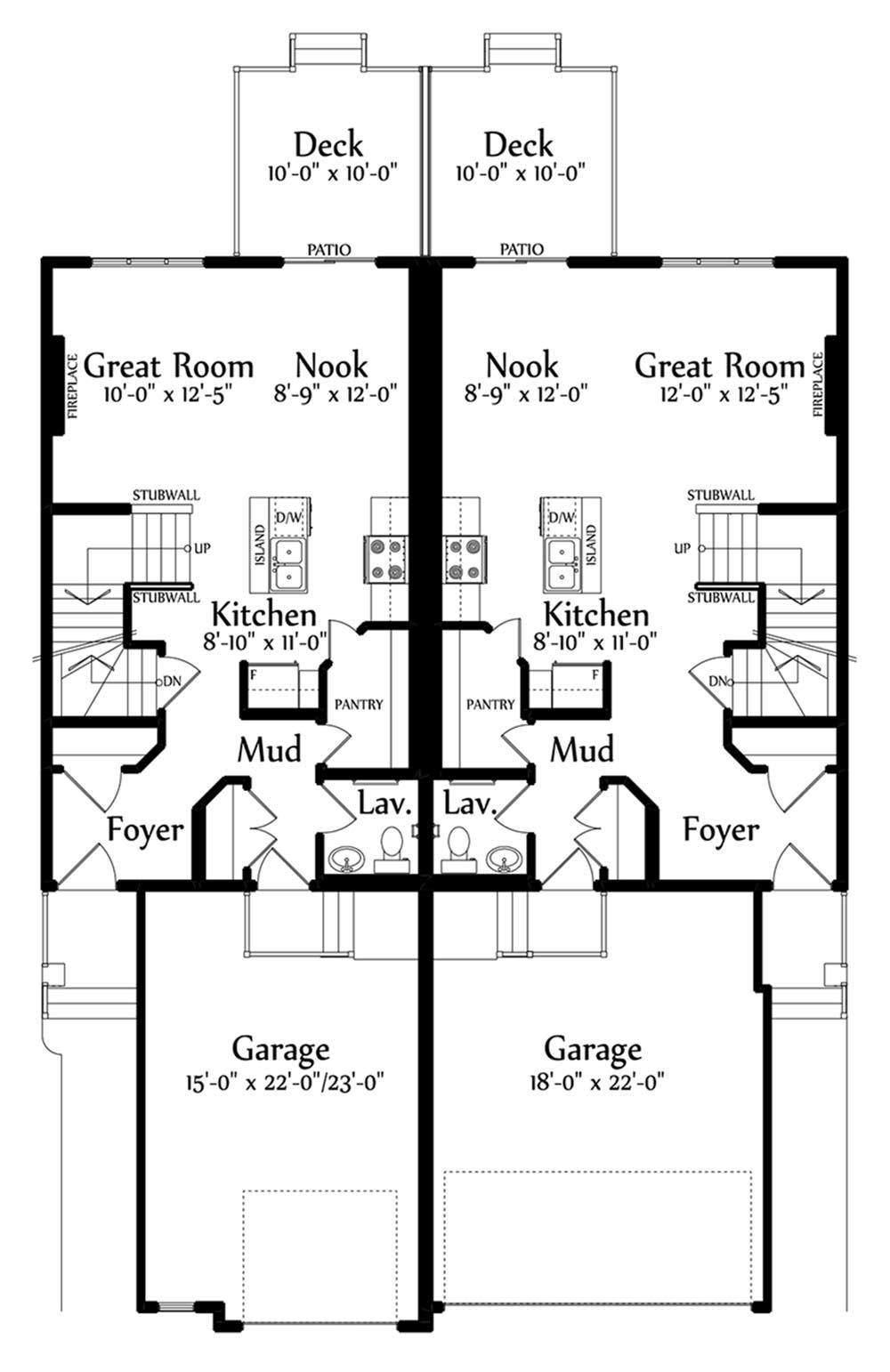 Emmerson B Main Floorplan 660 726
