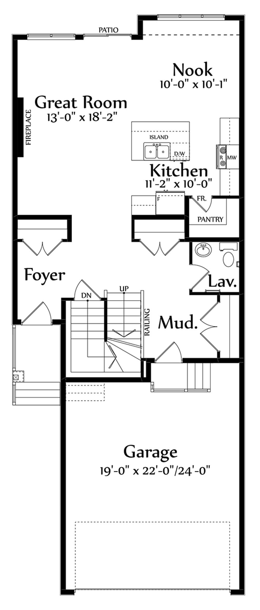 Hudson Main Floorplan 837