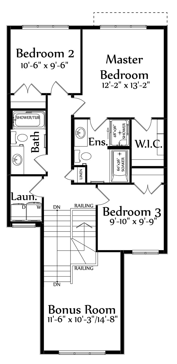 Hudson Second Floorplan 912