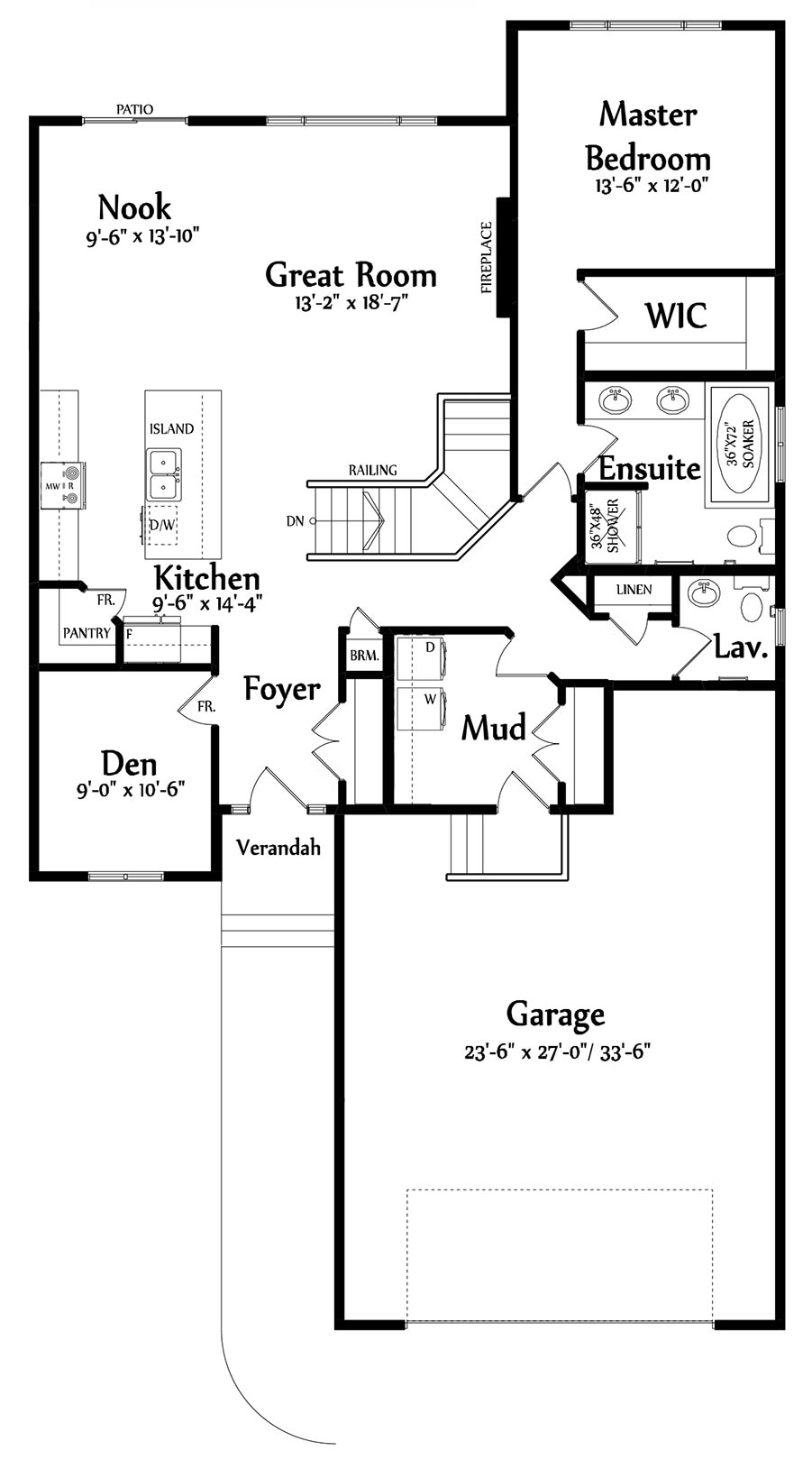 Isabella Main Floorplan 1500