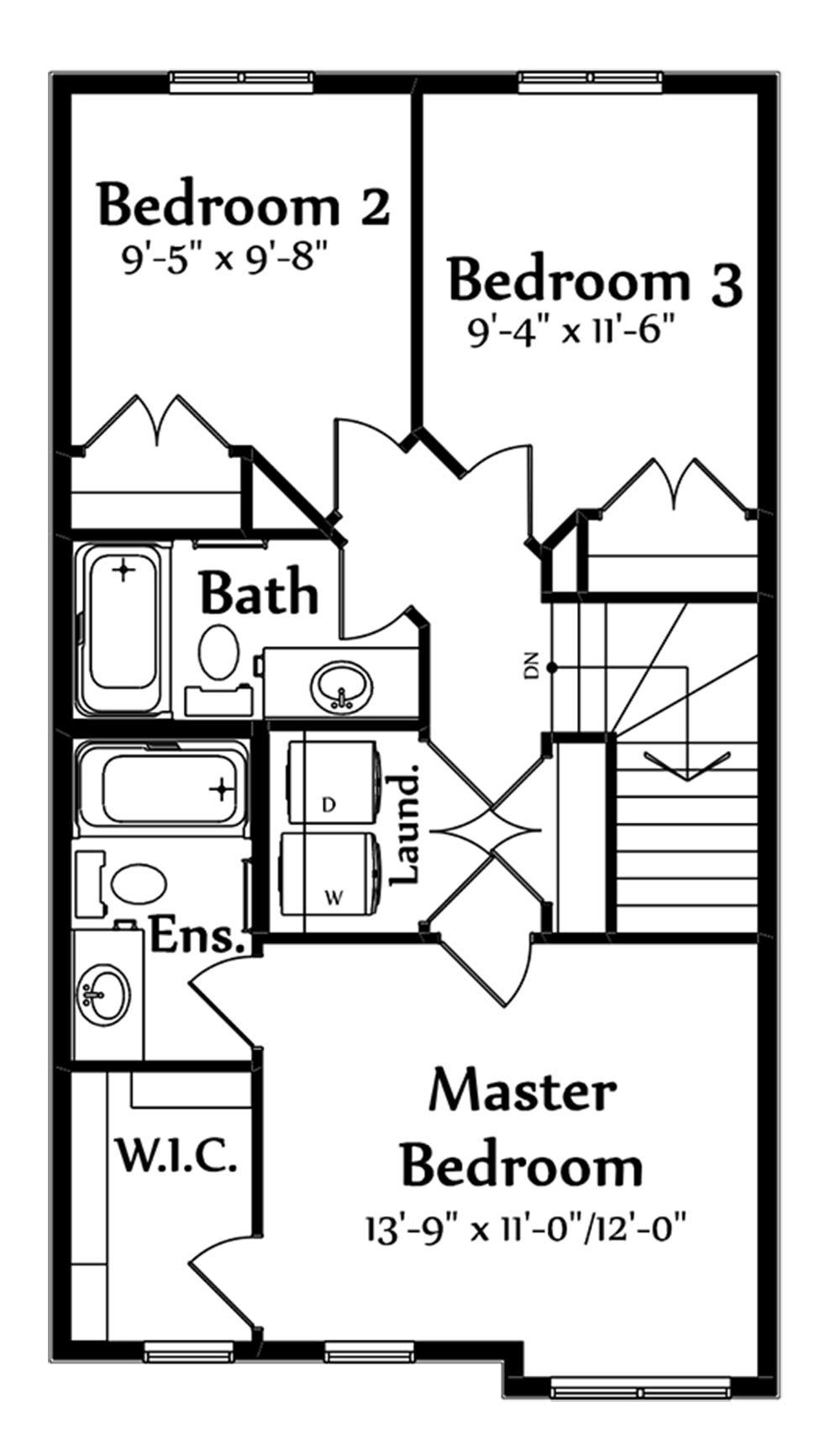 Jackson Second Floorplan 675