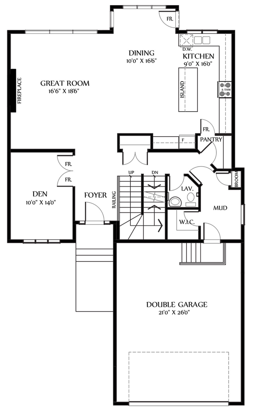 Kaitlyn I Main Floorplan 1295