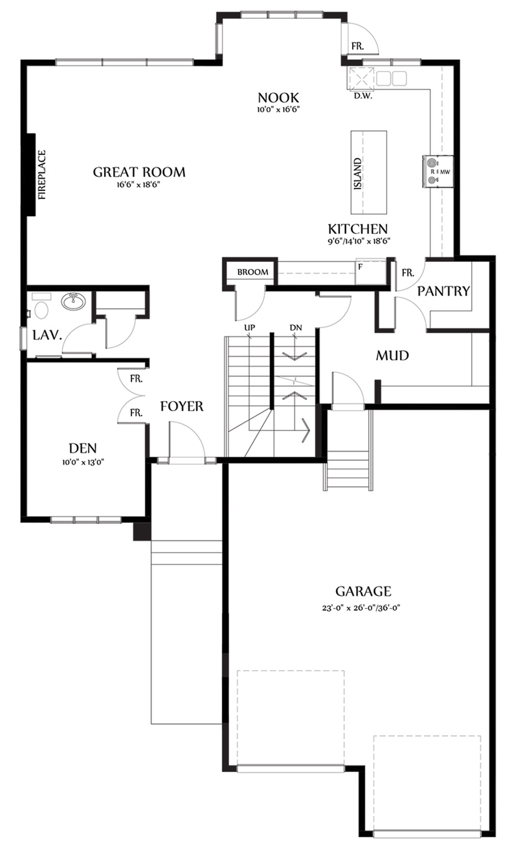 Kaitlyn II Main Floorplan 1356
