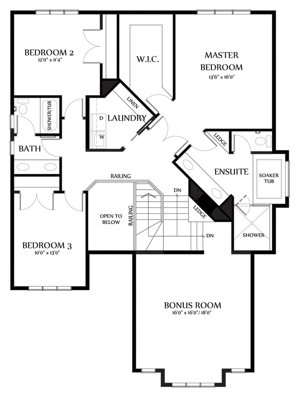 Kaitlyn II Second Floorplan 1503