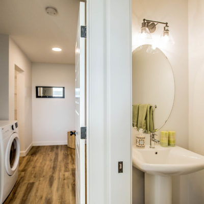 Lucas Half Bath and Laundry Room