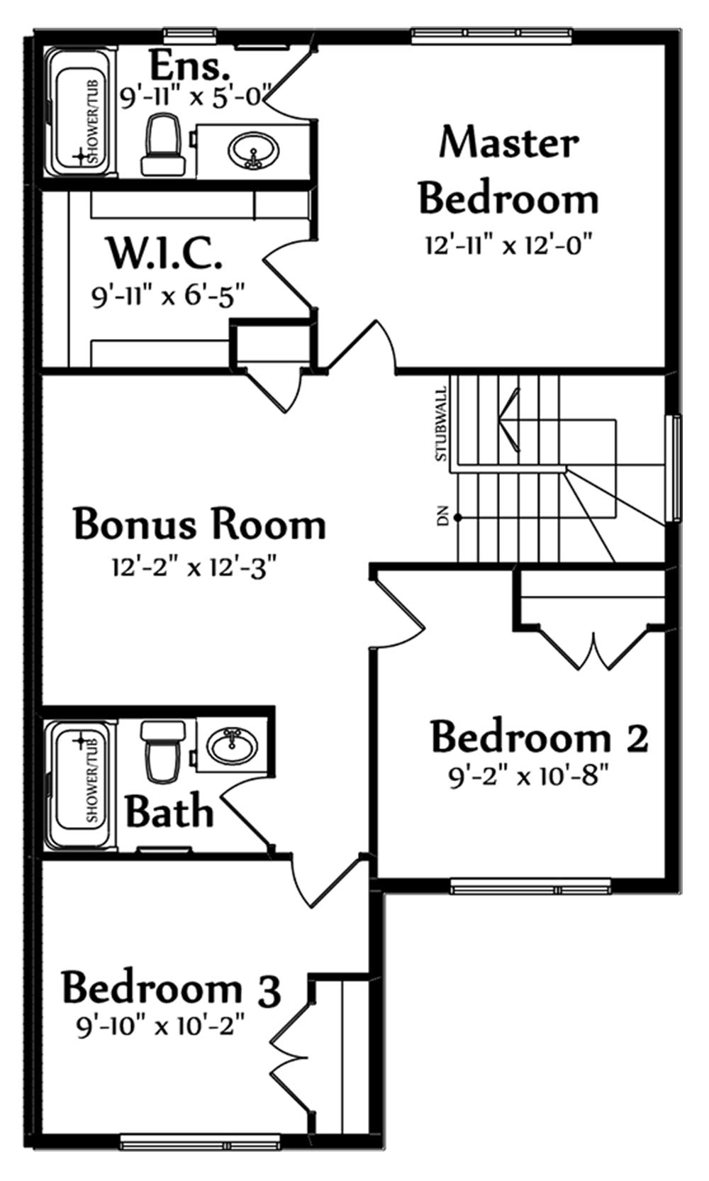 Lucas Second Floorplan 838