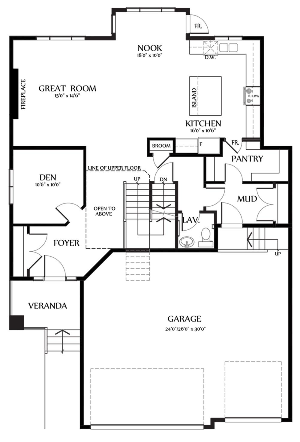 Nicholas III Main Floorplan 1227