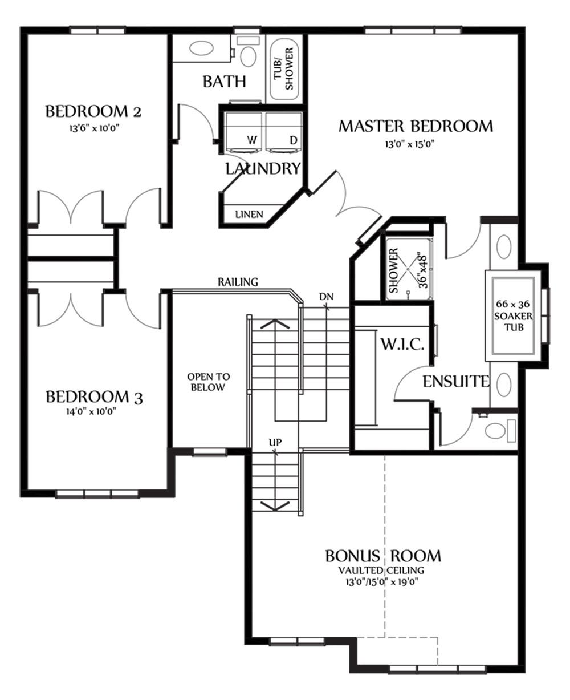 Nicholas III Second Floorplan 1291