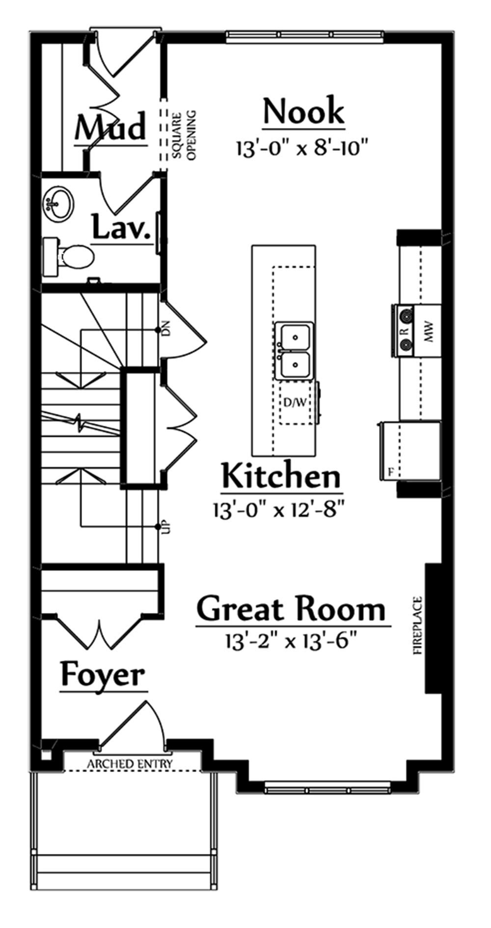 Oliver Main Floorplan 700