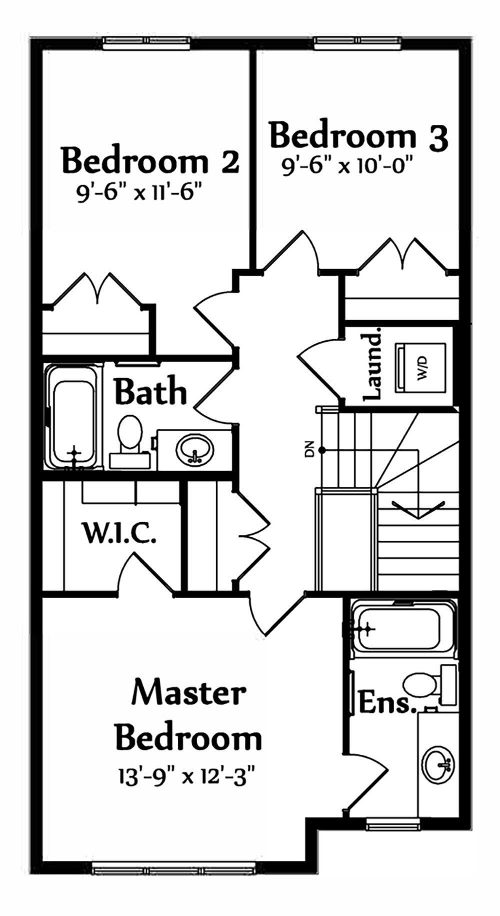 Sophia Second Floorplan 695