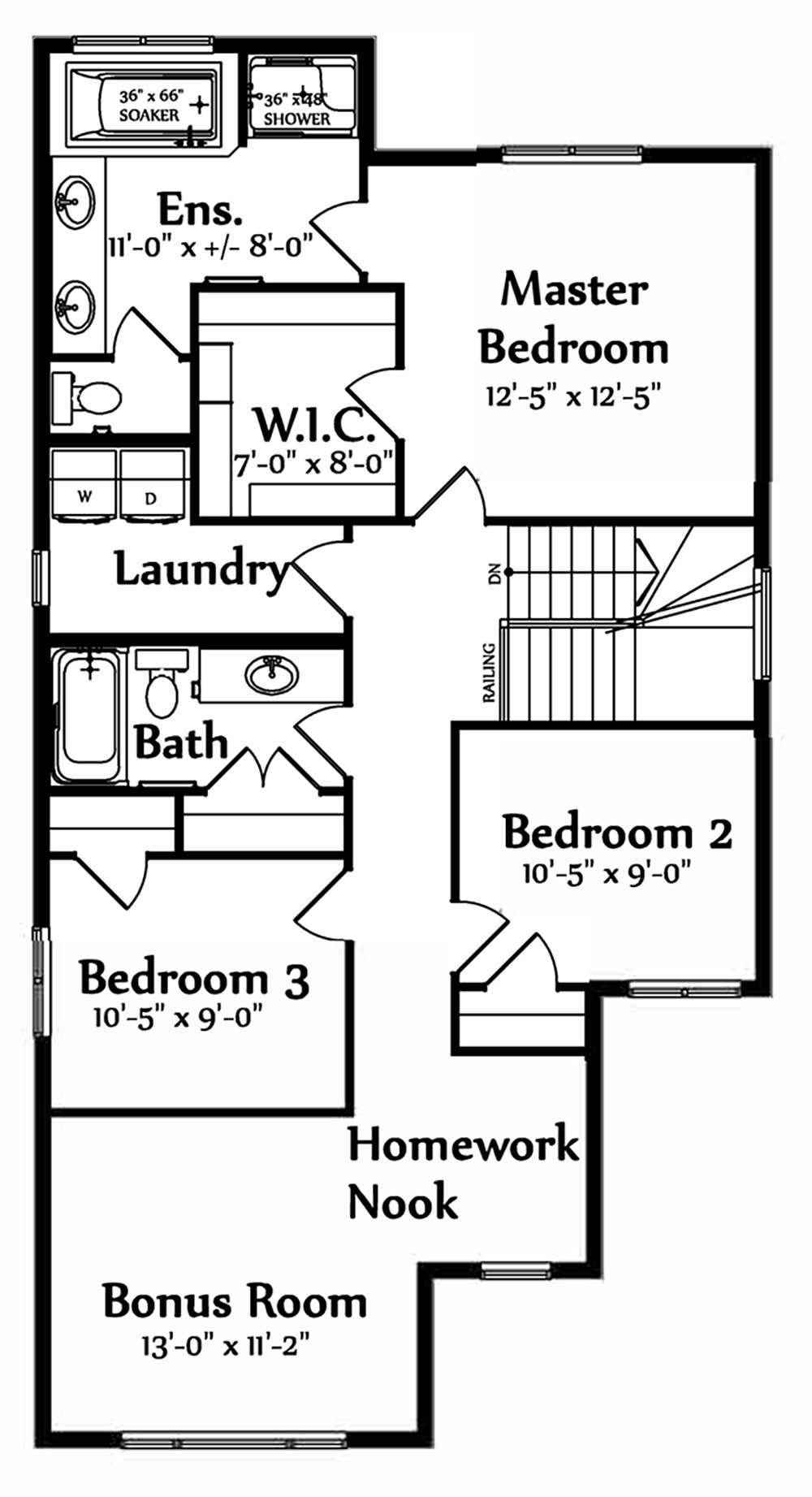 Valentina Second Floorplan 1051