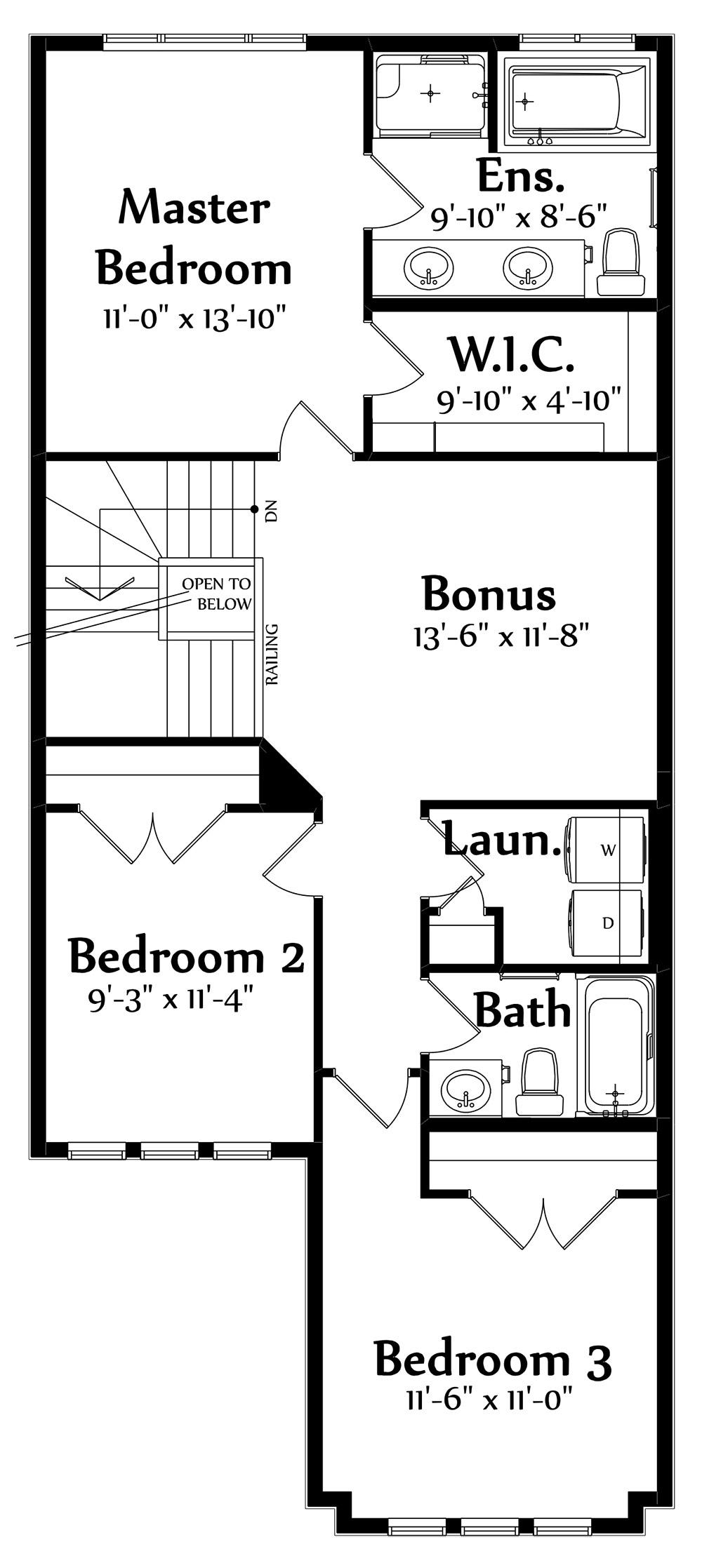 Sophia B Second Floorplan