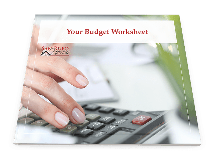 budget worksheet cover