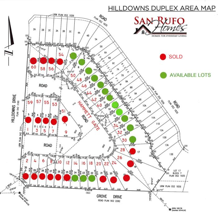 Hilldowns Duplex Area Map Image