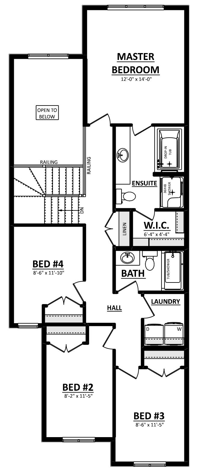 Paxton Second Floor 4 Bedroom Image