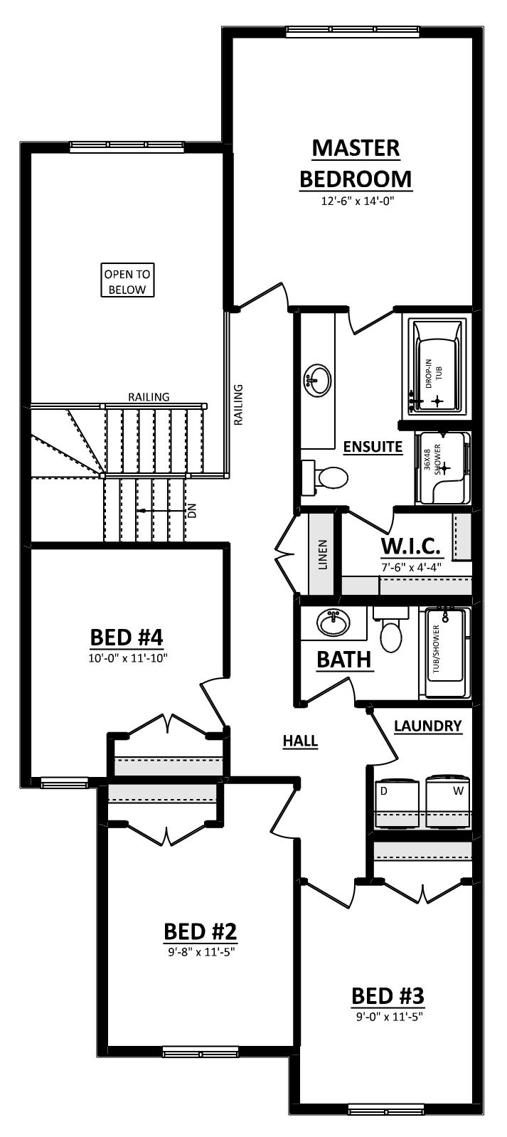 Tristen Second Floor 4 Bedroom Image